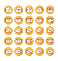 Orange mail icons vector