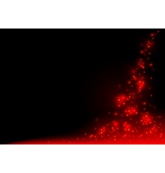 Red glowing sparklers vector