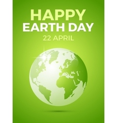 Earth day april 22 vector