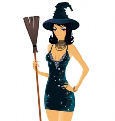 Girl halloween vector