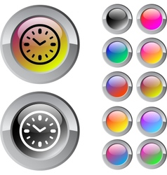 Time multicolor round button vector image