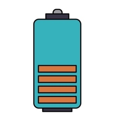 Battery level isolated icon design vector