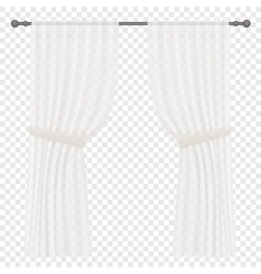 White curtains isolated on transperant vector