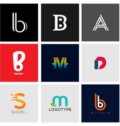 Alphabet logotype collection vector