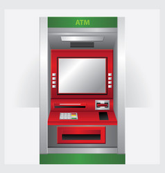 Atm automatic teller machine vector