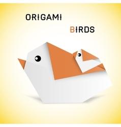 Birds origami vector image vector image