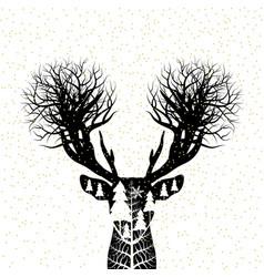 christmas concept design of reindeer vector image vector image