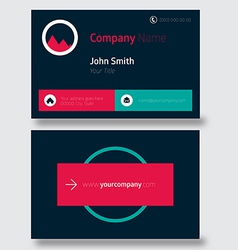Clean style business card vector image