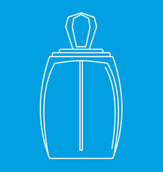 Elegant woman perfume bottle icon outline style vector