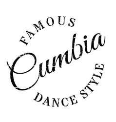 Famous dance style cumbia stamp vector