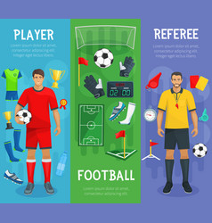 football club banners of soccer sport game vector image vector image
