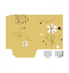 gift folder vector image
