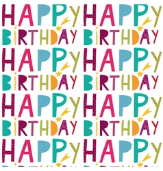 happy birthday brown paper vector image