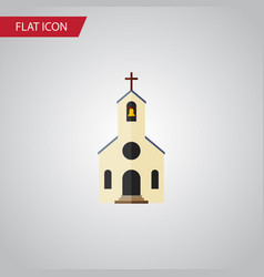 Isolated church flat icon building element vector