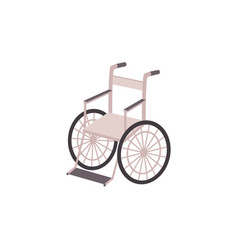 Isolated flat cartoon style lightweight wheelchair vector