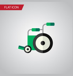 Isolated wheelchair flat icon equipment vector