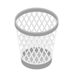 Mesh trash basket icon isometric 3d style vector