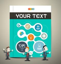 Modern Book or Brochure Cover Design - vector image vector image