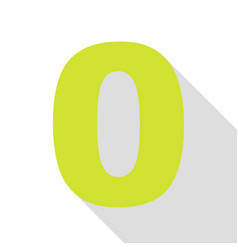 Number 0 sign design template element pear icon vector