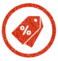 Percent discount tags rounded grainy icon vector