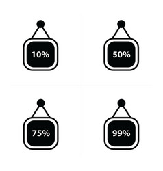 Percent price label set vector
