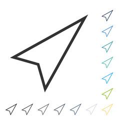 Pointer right up icon vector
