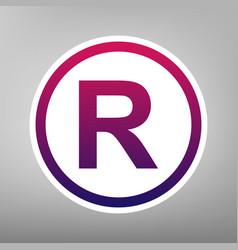 Registered trademark sign purple gradient vector