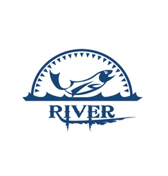 river icon vector image vector image