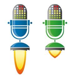 rocket mic vector image