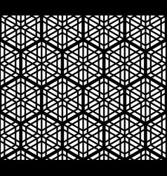 seamles geometric ornament based kumiko pattern vector image vector image
