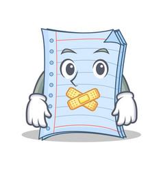 Silent notebook character cartoon design vector