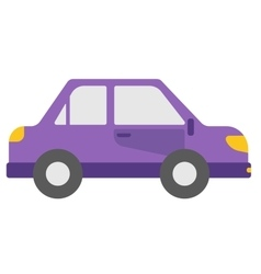 Small purple car vector image vector image