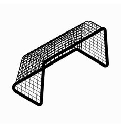 Soccer goal icon isometric 3d style vector image vector image