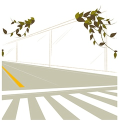Street crossing scene vector