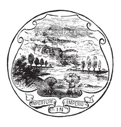The official seal of the us state of ohio in 1889 vector