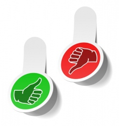 thumb signs vector image vector image