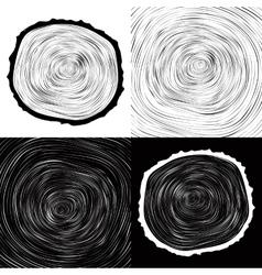 tree wood slice natural years line circle ring vector image vector image