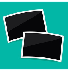 Two rectangular instant photos Flat design vector image