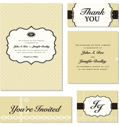 Vintage business cards vector image vector image
