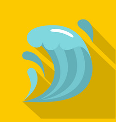 Wave icon flat style vector
