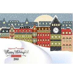 Winter cityscape christmas vector