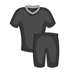 Football uniforms icon black monochrome style vector