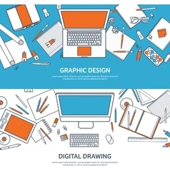 Study and education lined vector