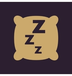 The pillow icon cushion and dream sleeping vector