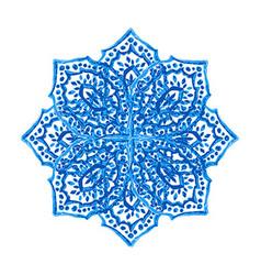 Blue winter snowflake vector
