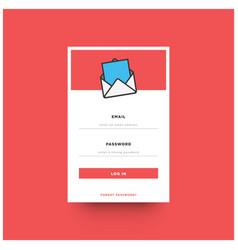 log in box ui design vector image