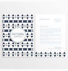 Abstract aztec style letterhead template vector