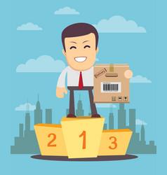 Successful manager merchandiser or businessman vector