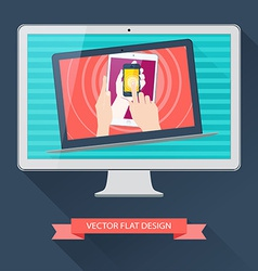 Internet user equipment computer tablet phone vector