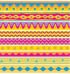 Set of seamless ethnic background vector